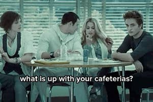 Picture of students at a cafeteria