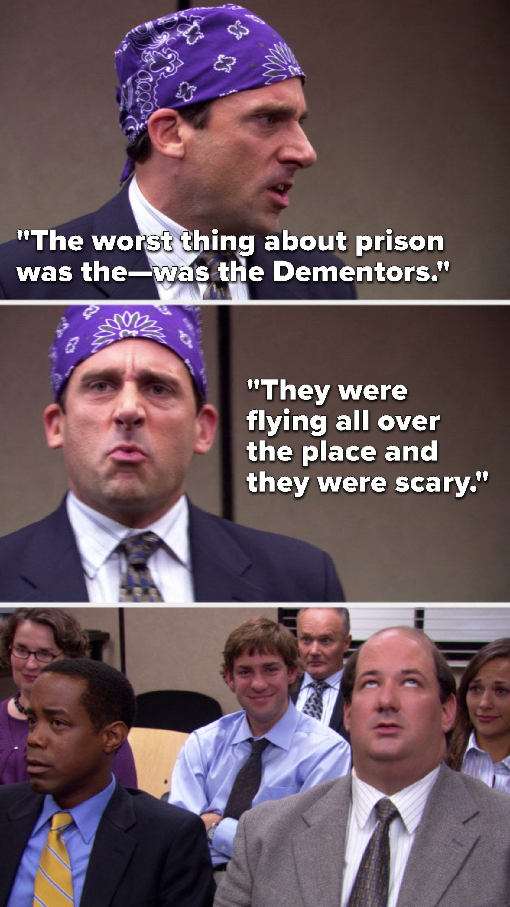 """Michael says, """"The worst thing about prison was the—was the Dementors, they were flying all over the place and they were scary"""""""