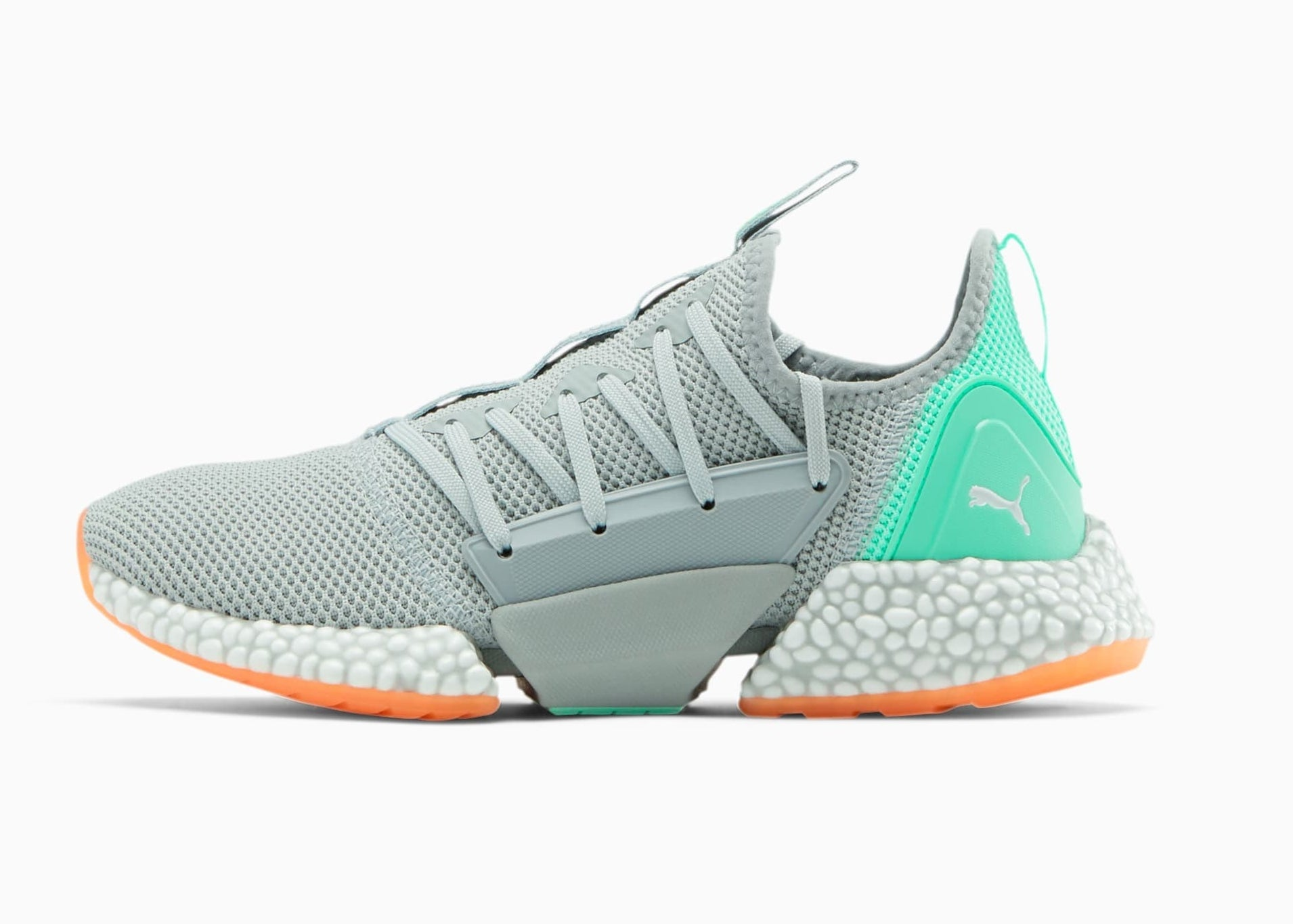 the grey and teal sneakers