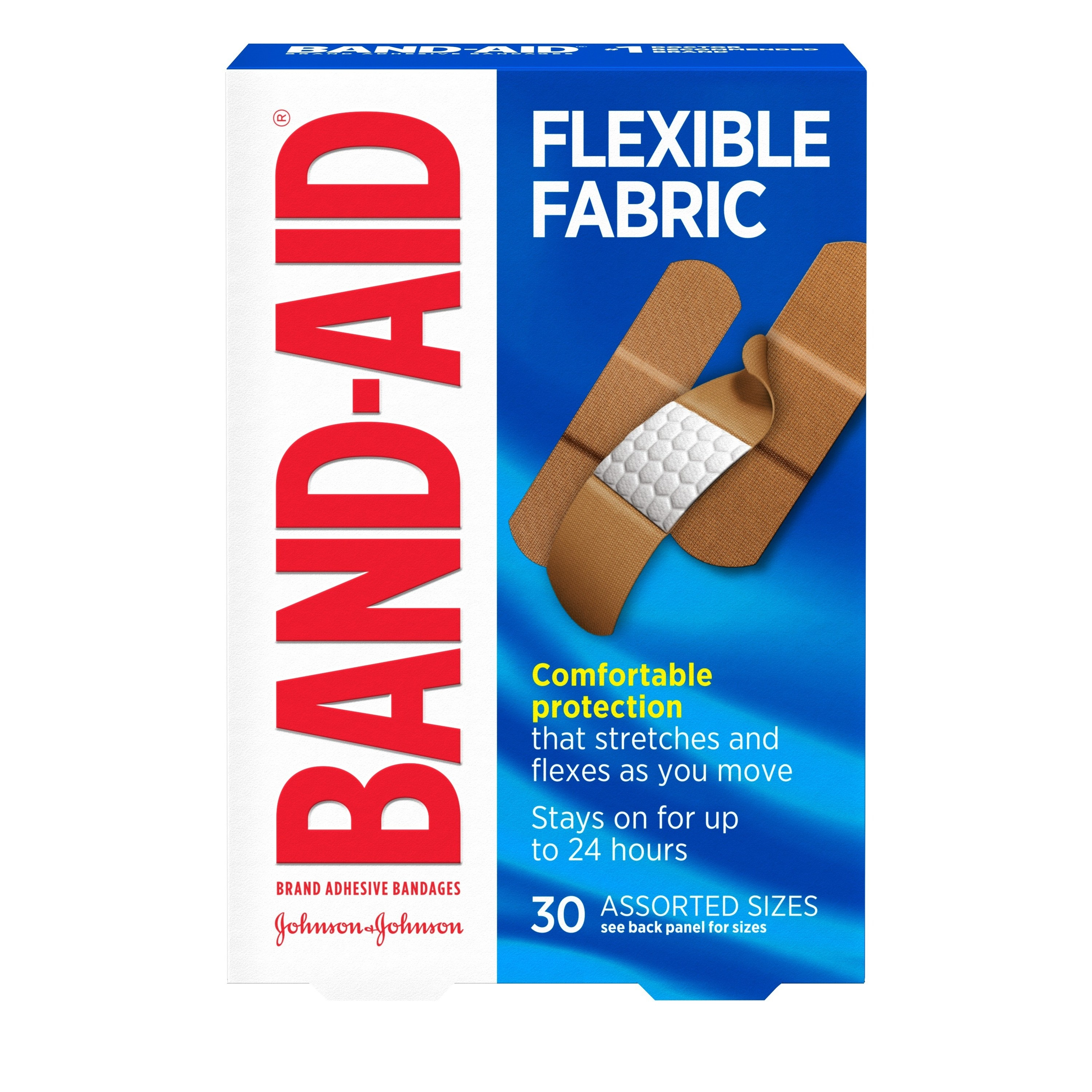 The box which says the bandages stay on for up to 24 hours