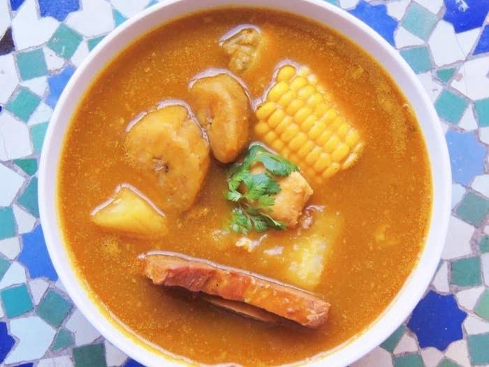 A bowl of sancocho