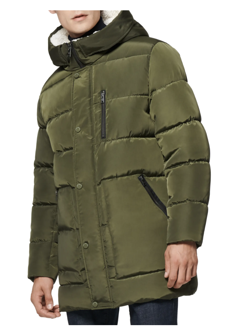 Marc New York puffer coat in forest