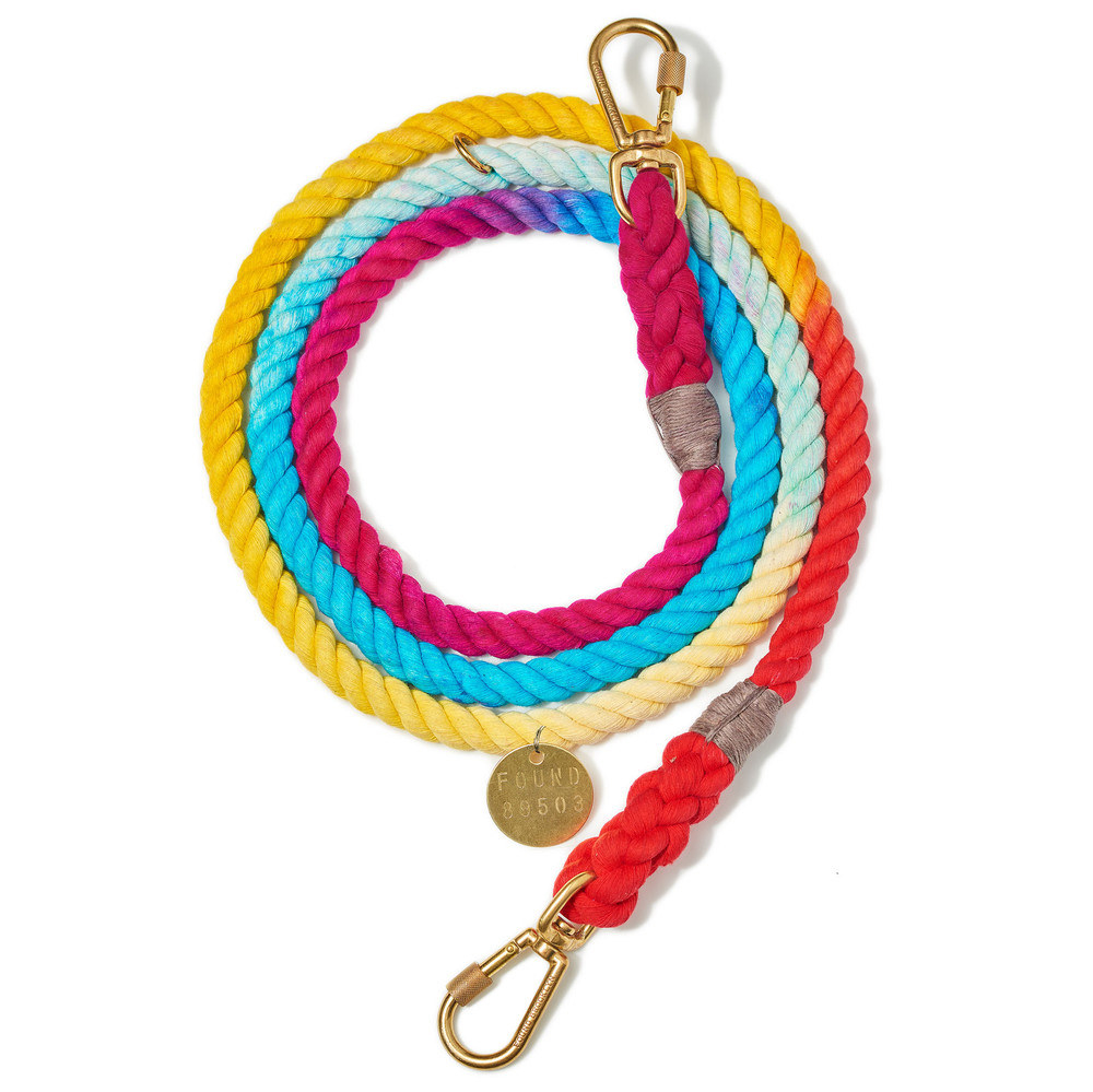 Colorful spliced rope leash