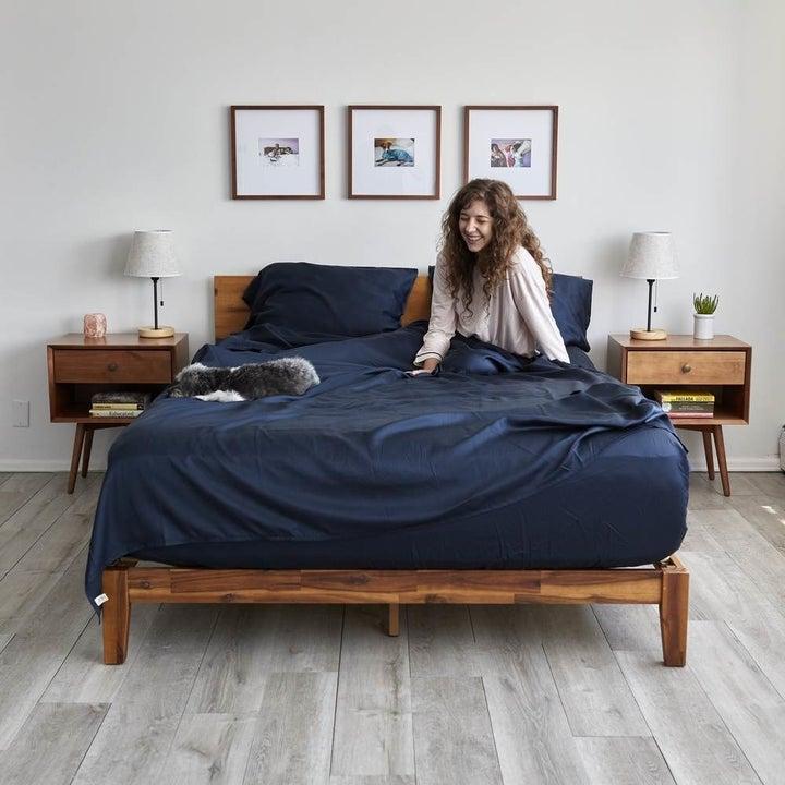 the eucalyptus sheet set