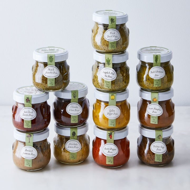 the various pesto jars