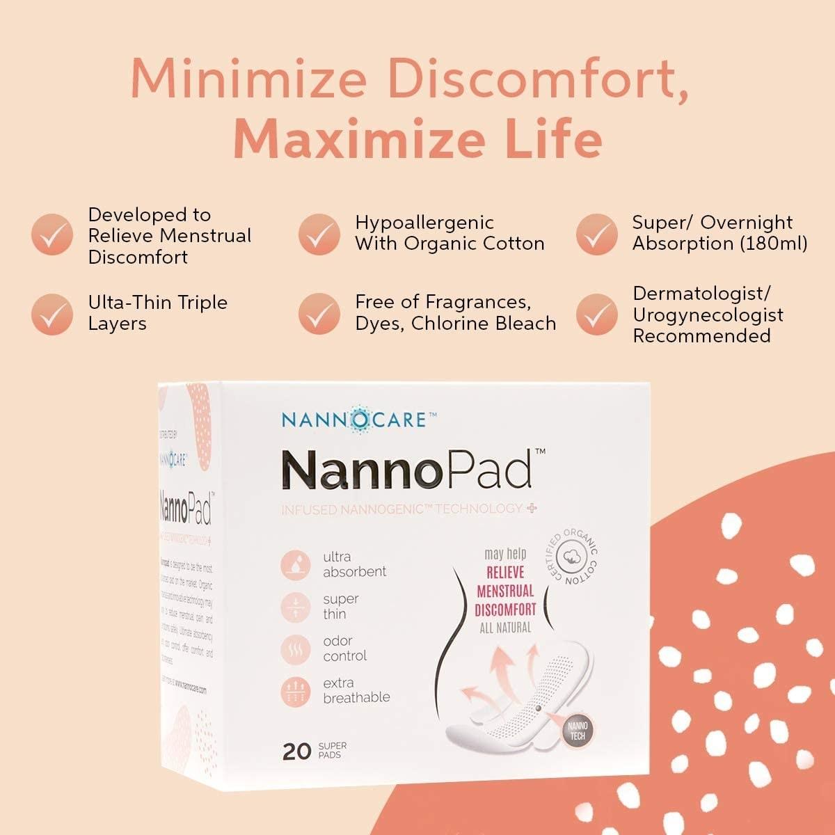 the nannocare nannopad box