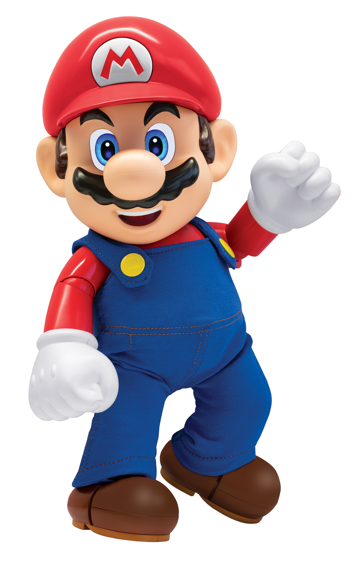 super mario figure posing like he's about to jump