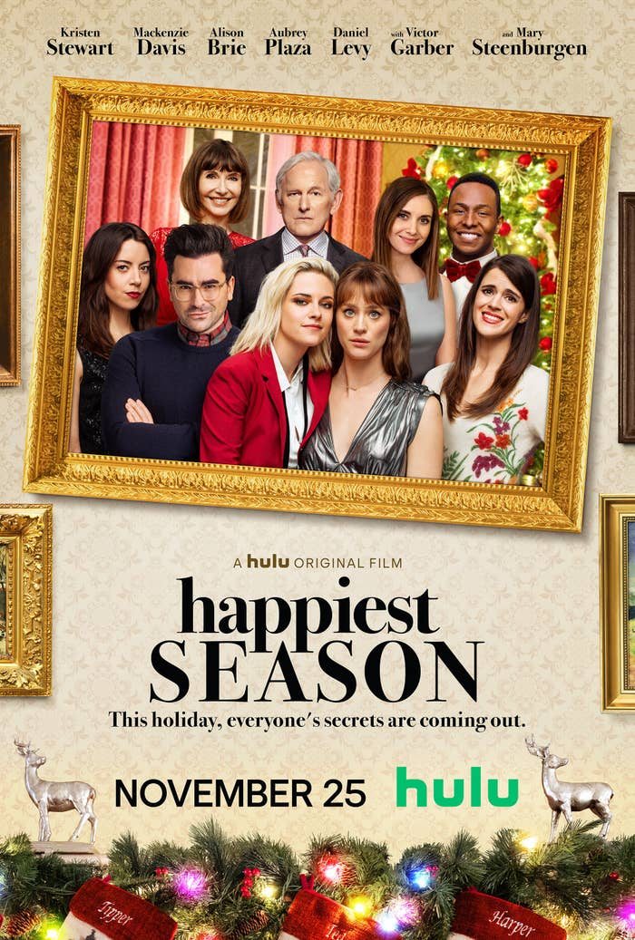 """The press release poster for the movie """"Happiest Season."""""""