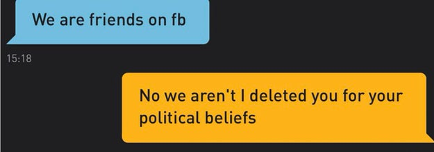 Grindr message saying,