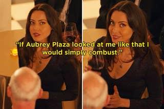 Aubrey Plaza as Riley in Happiest Season