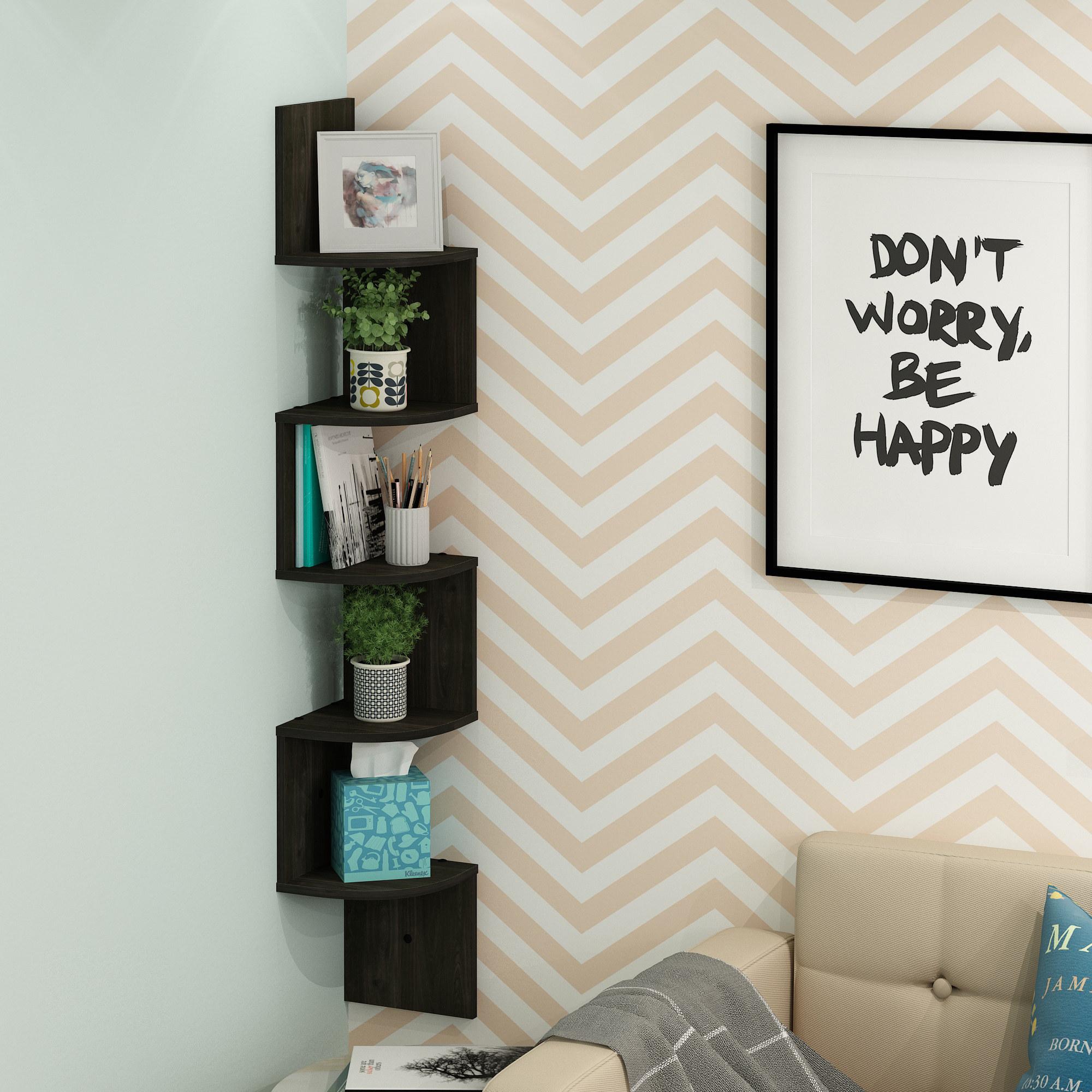 The black corner shelf