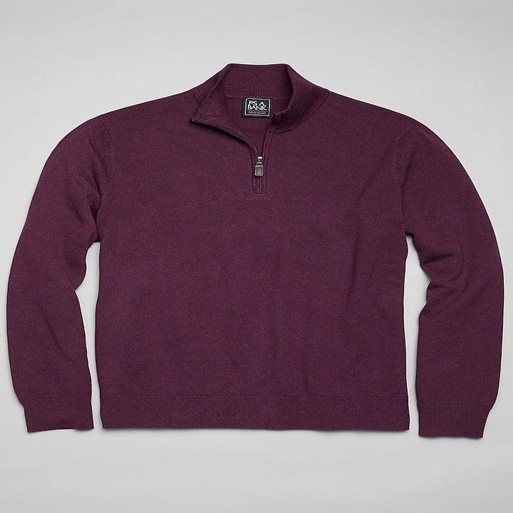 Purple quarter-zip sweater