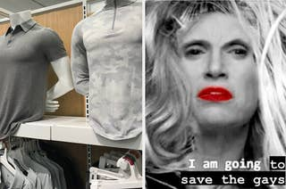 Thirsting over a mannequin and Jane Lynch as Gaga for a meme about saving the gays