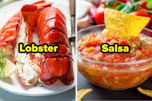 Lobster and salsa