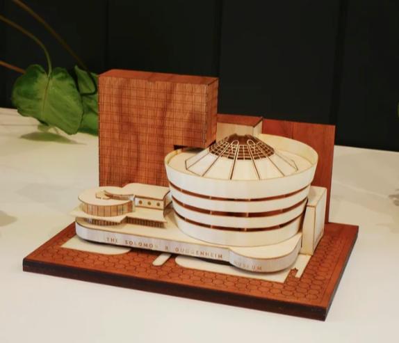 wooden guggenheim model