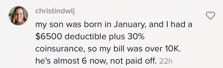 Mom who said her bill was over $10,000.