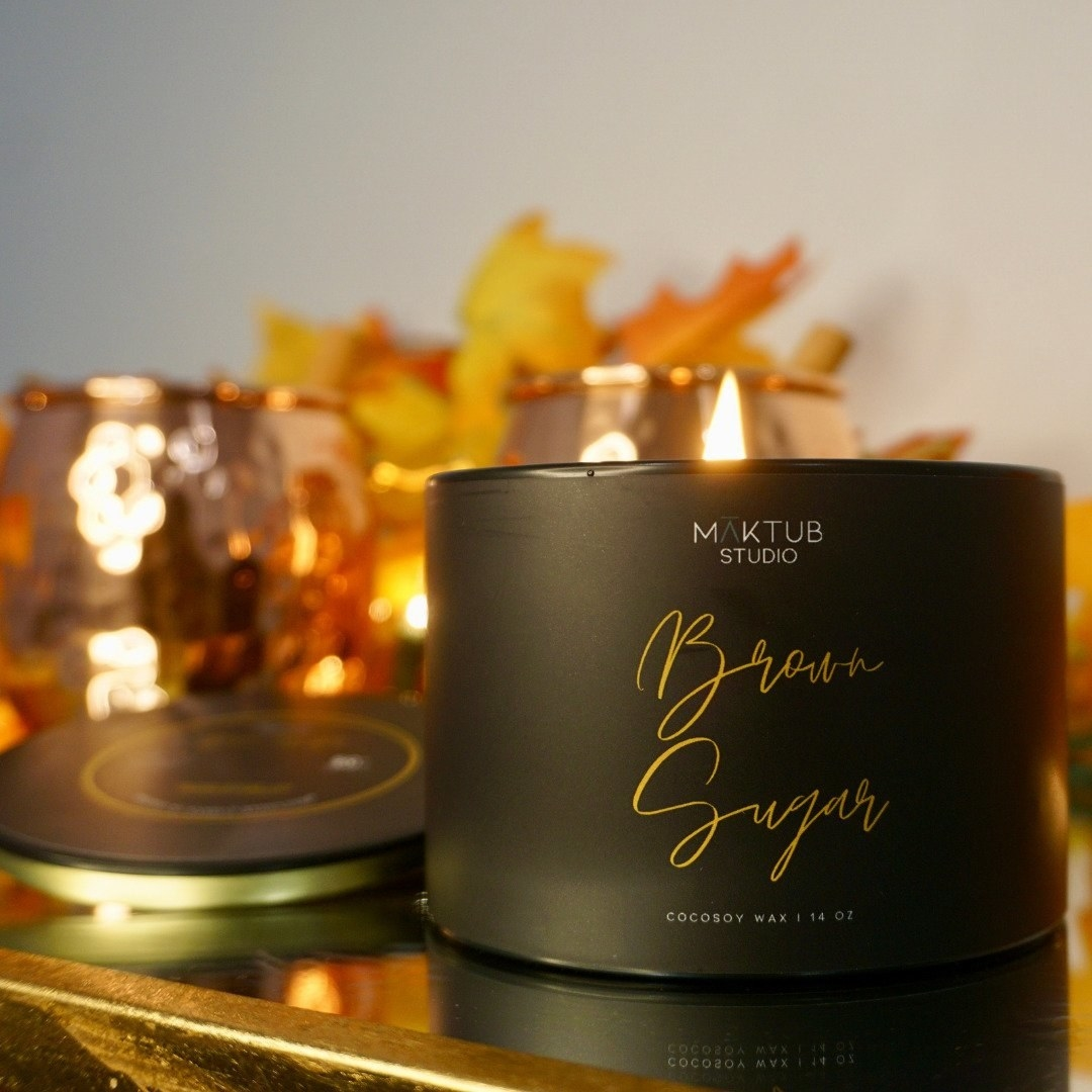the brown sugar scented candle