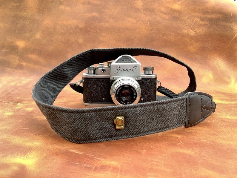 Black camera strap