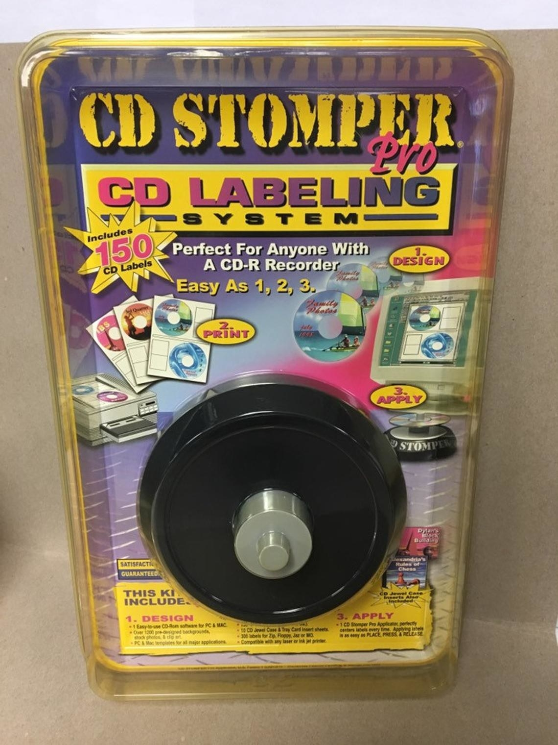 A CD Stomper label maker still in the package