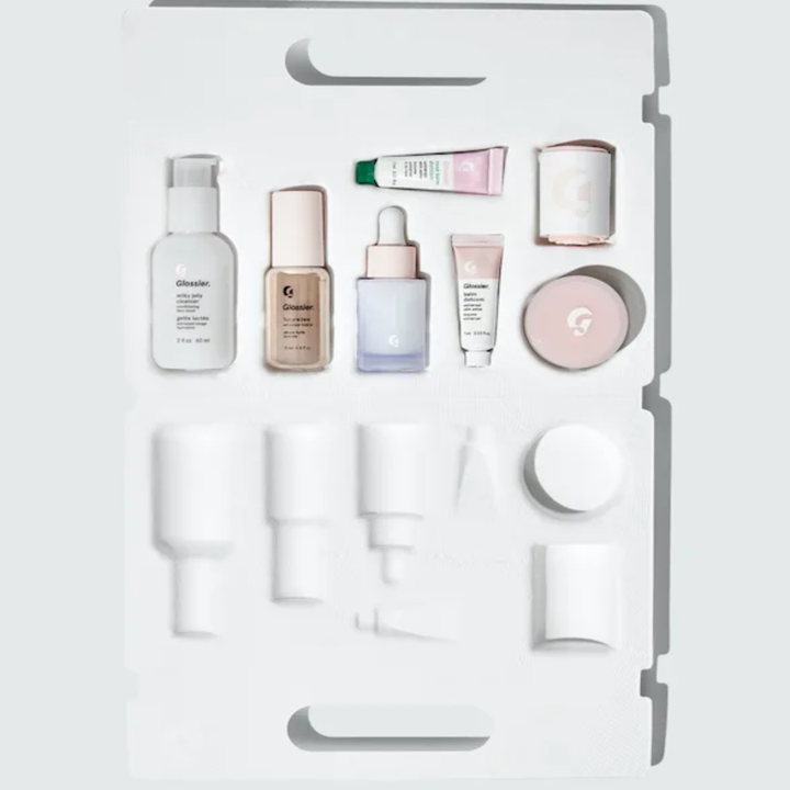 inside of a case with the various products