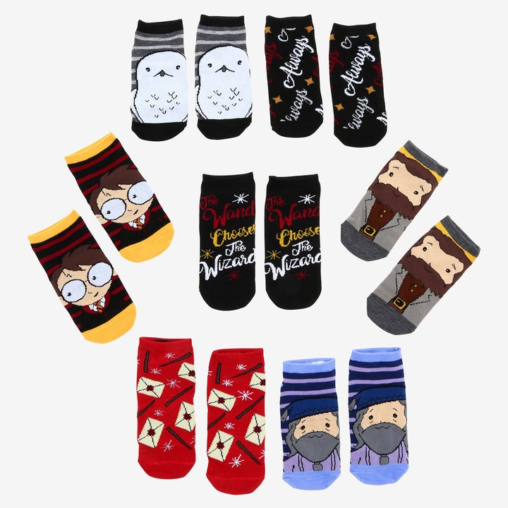 the various pairs of socks