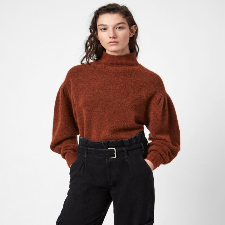 the sweater worn in brown