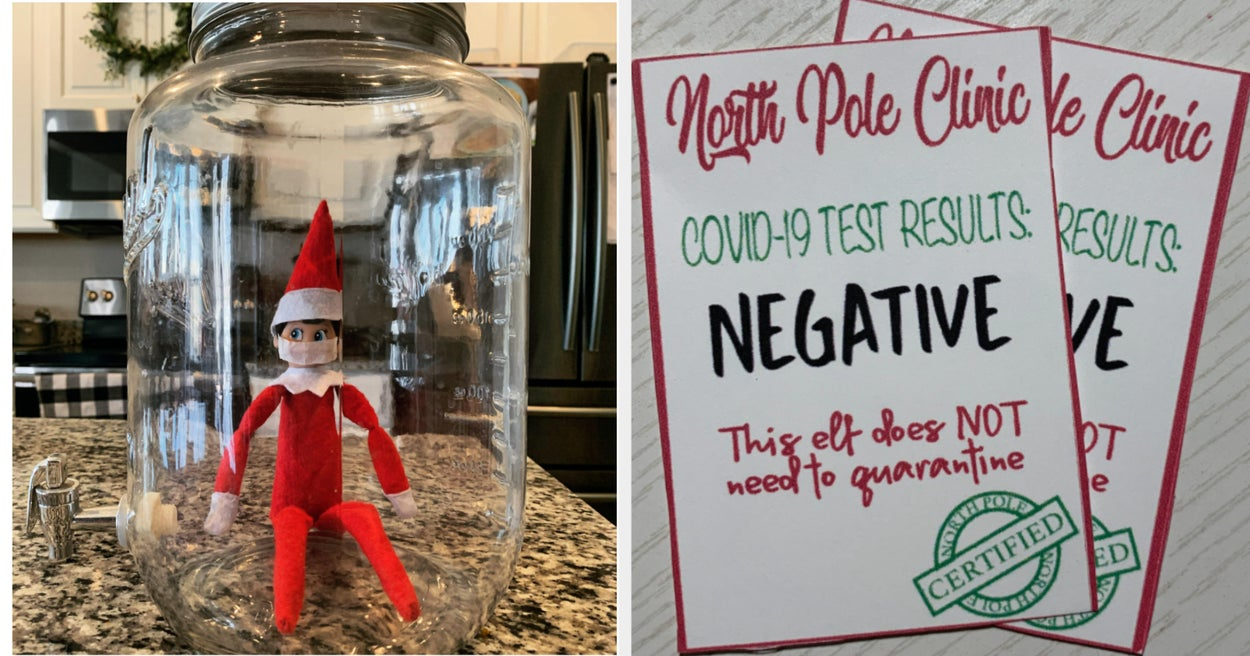 This Elf On The Shelf Idea Is Very 2020