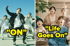 BTS music video screencaps from On and Life Goes On