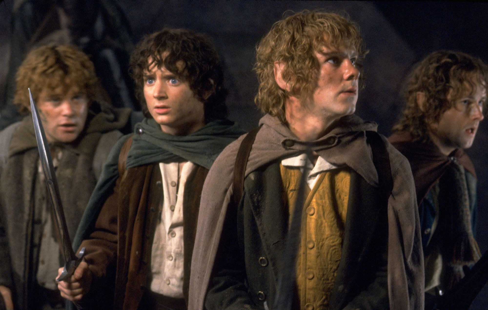 The Hobbits — Sam, Frodo, Merry and Pippin
