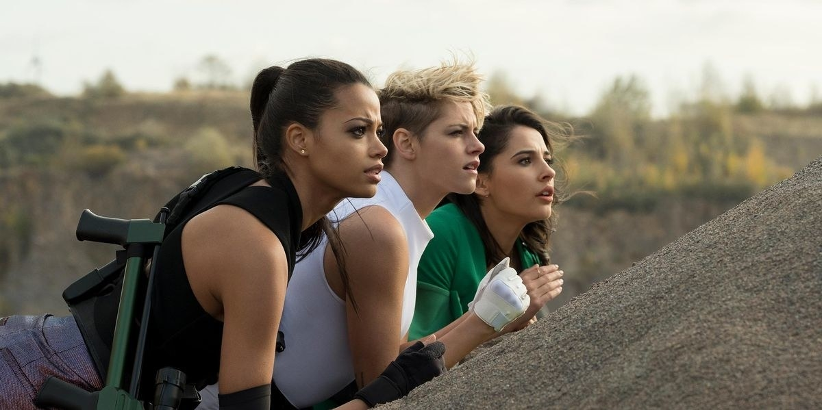 Charlie's Angels — Sabina, Elena and Jane — while on a mission