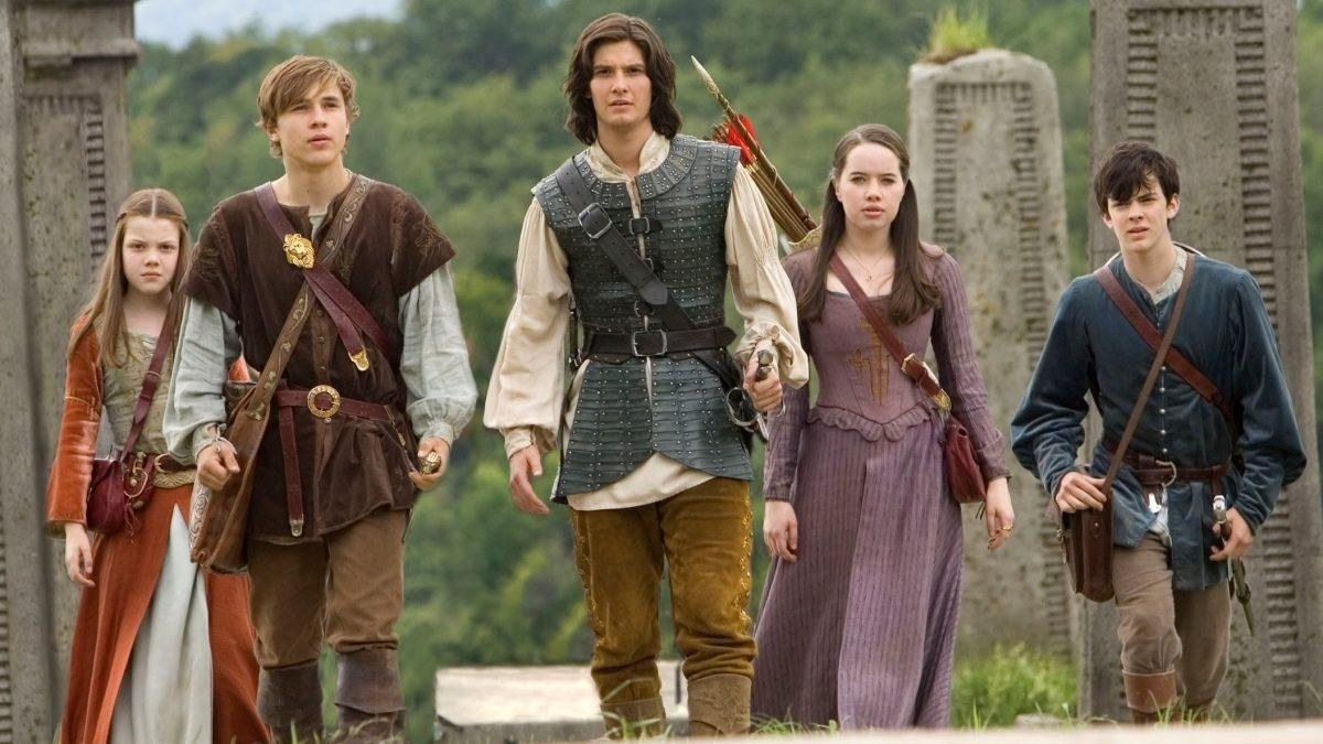 The Pevensie children — Peter, Susan, Edmund and Lucy — and Prince Caspian