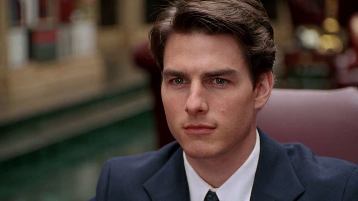 """A closeup of Tom Cruise in """"The Firm"""""""