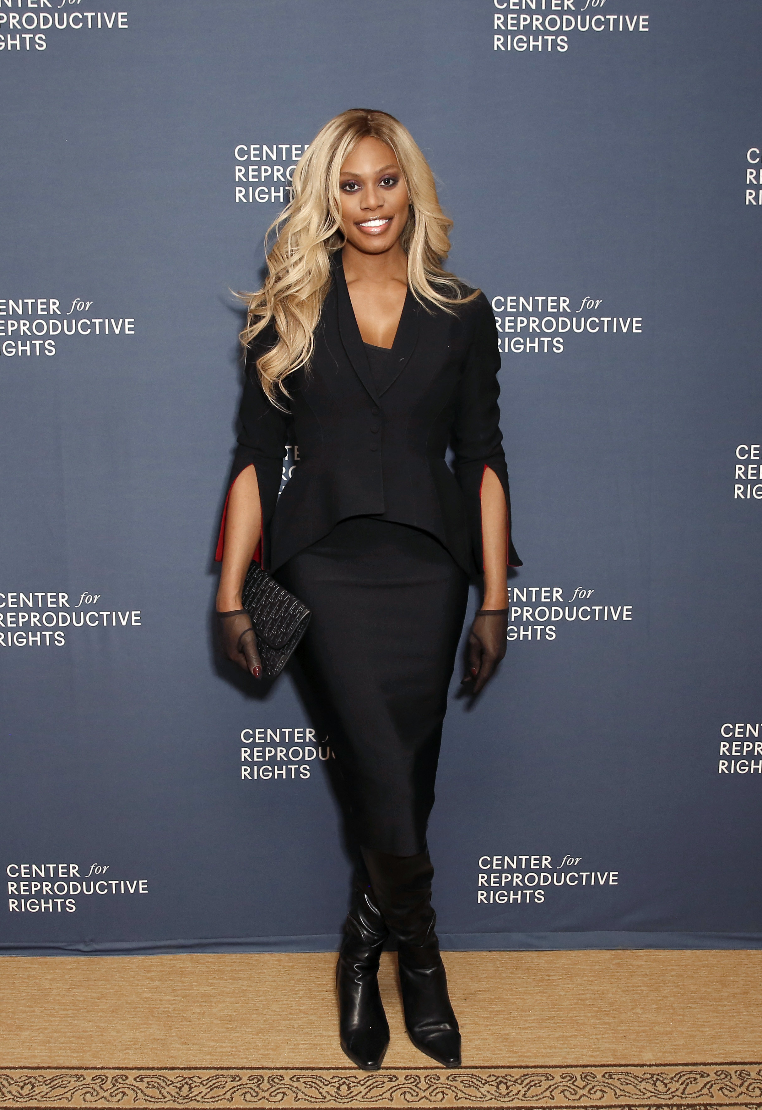Laverne Cox attends The Center for Reproductive Rights 2020 Los Angeles Benefit on February 27, 2020 in Beverly Hills, California