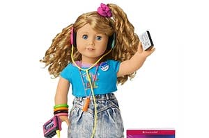 American Girl Courtney in 1980s fashion.