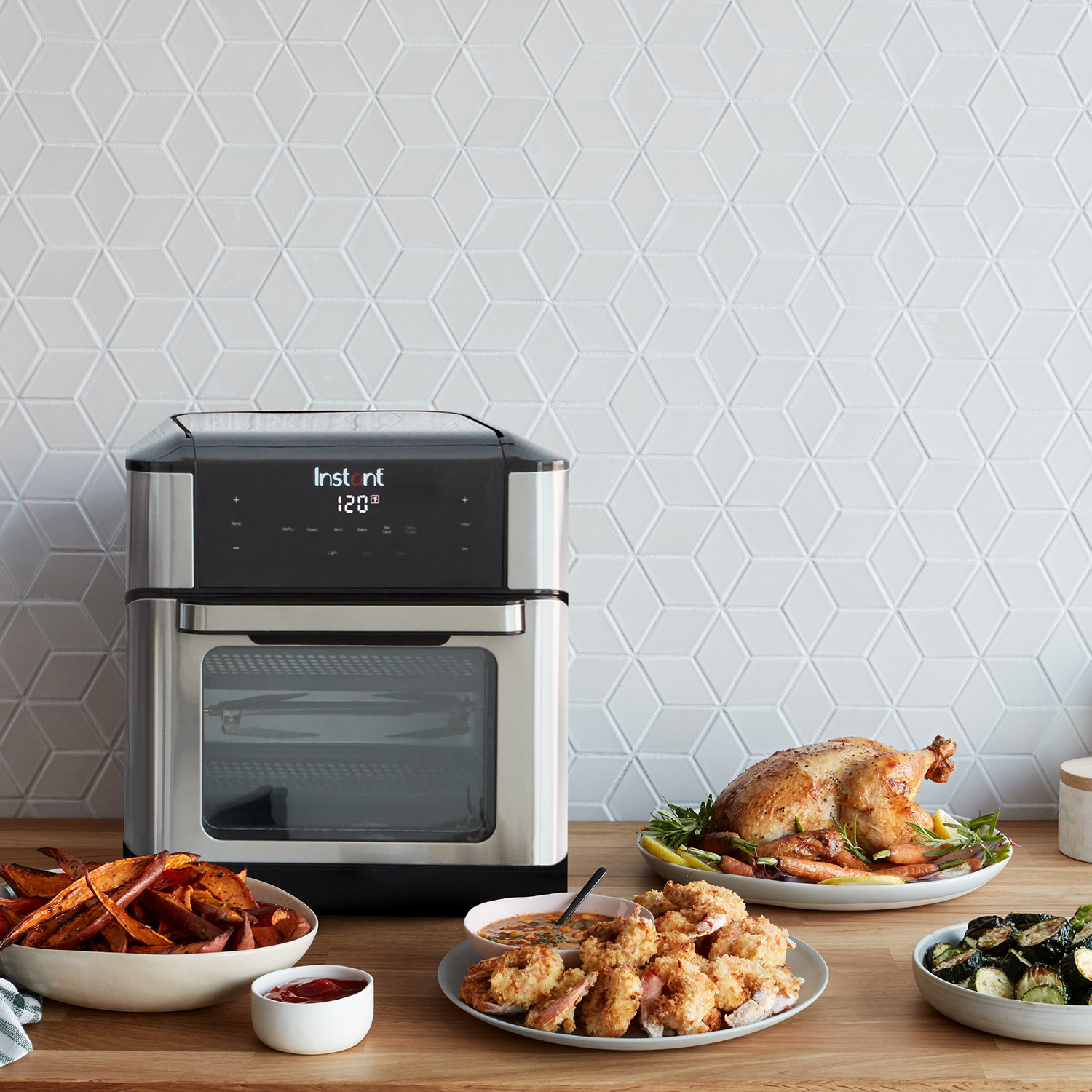 The digital air frying oven