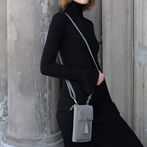 A person wears a petite purse crossbody