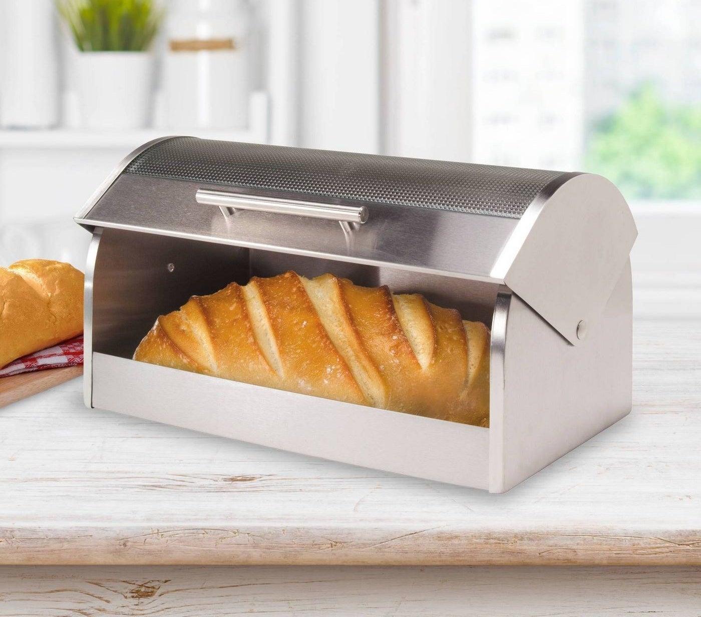 Stainless steel breadbox
