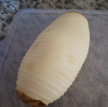 A reviewer's perfectly peeled potato