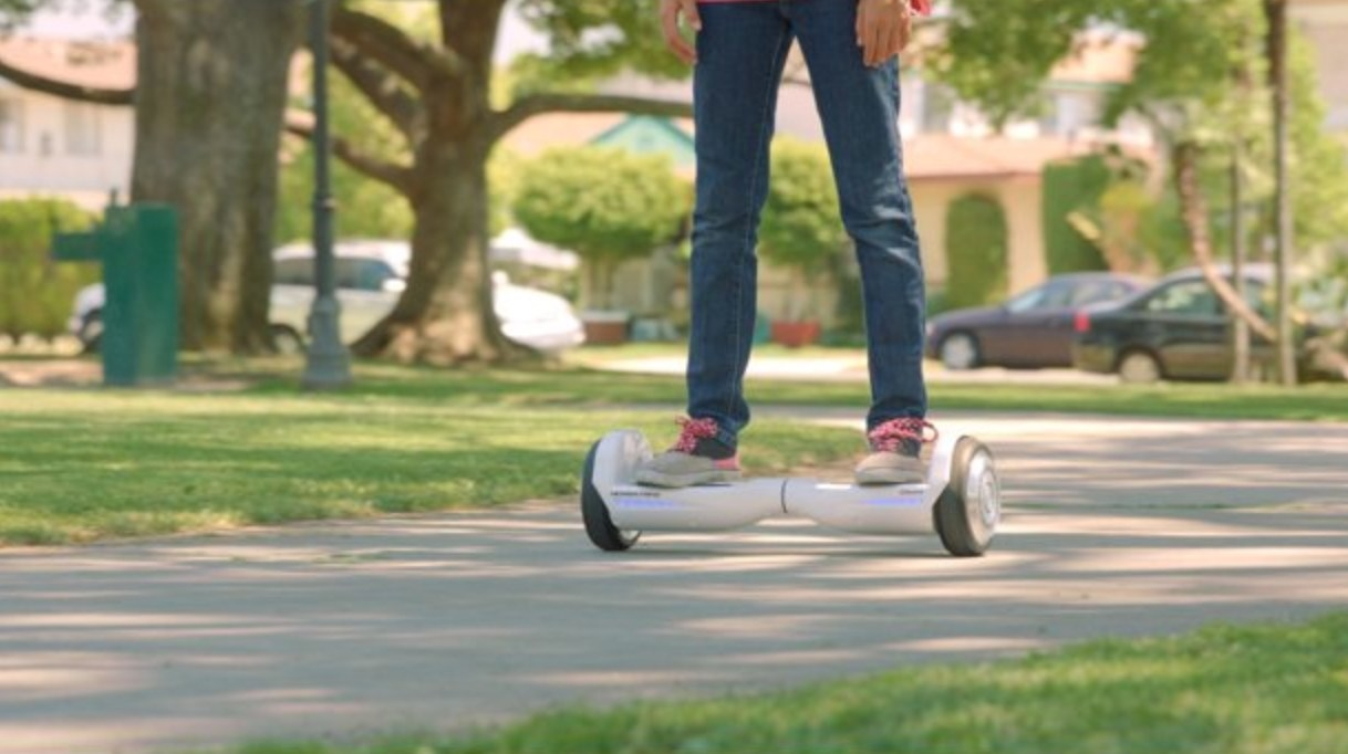 The hoverboard in white