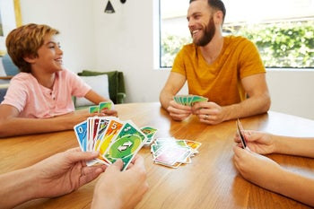 Models playing Uno card game