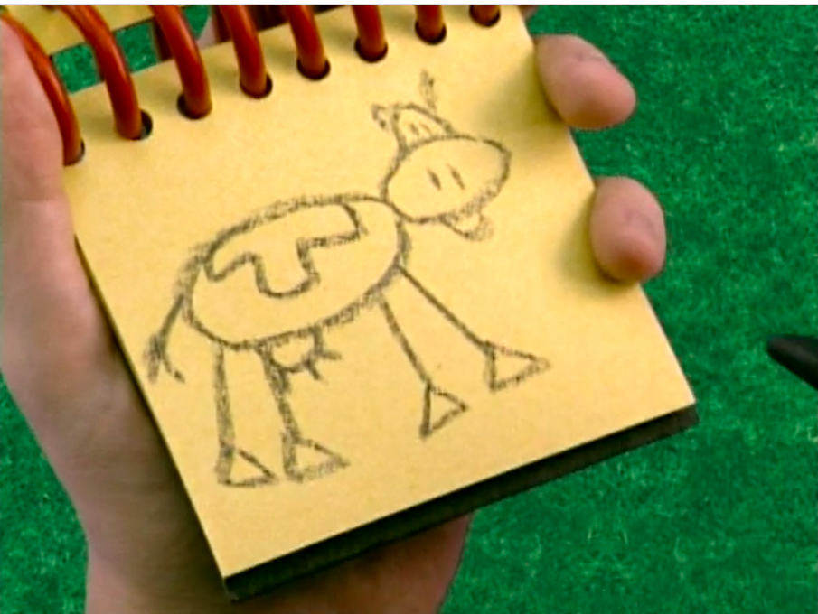 Steve's poor drawing of a cow
