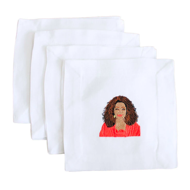The Oprah Cocktail Napkin Set.