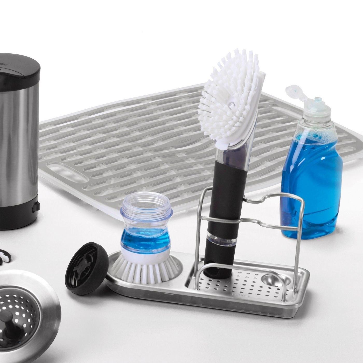 Stainless steel sink organizer