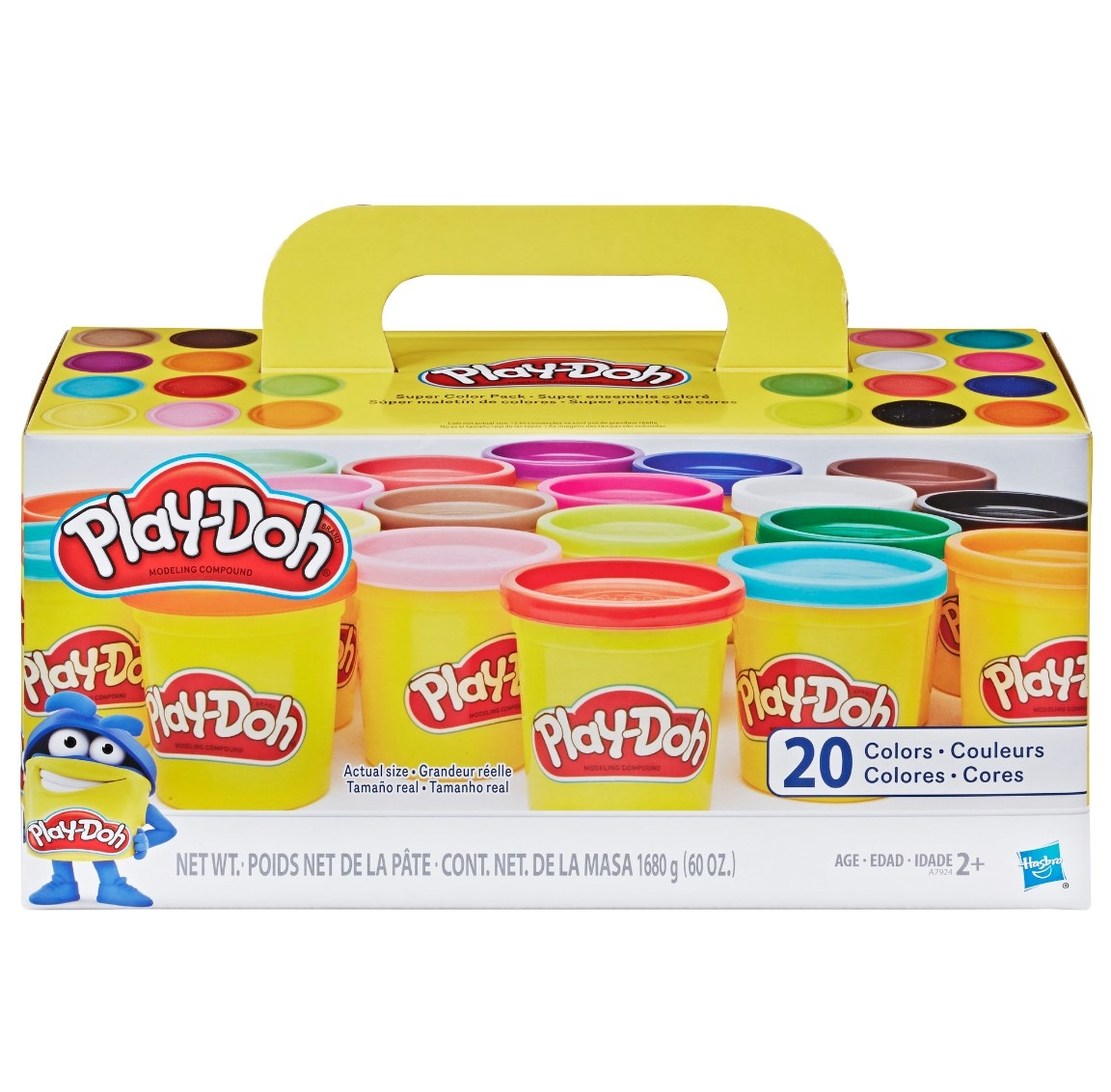 The play-doh bins in 20 different colors