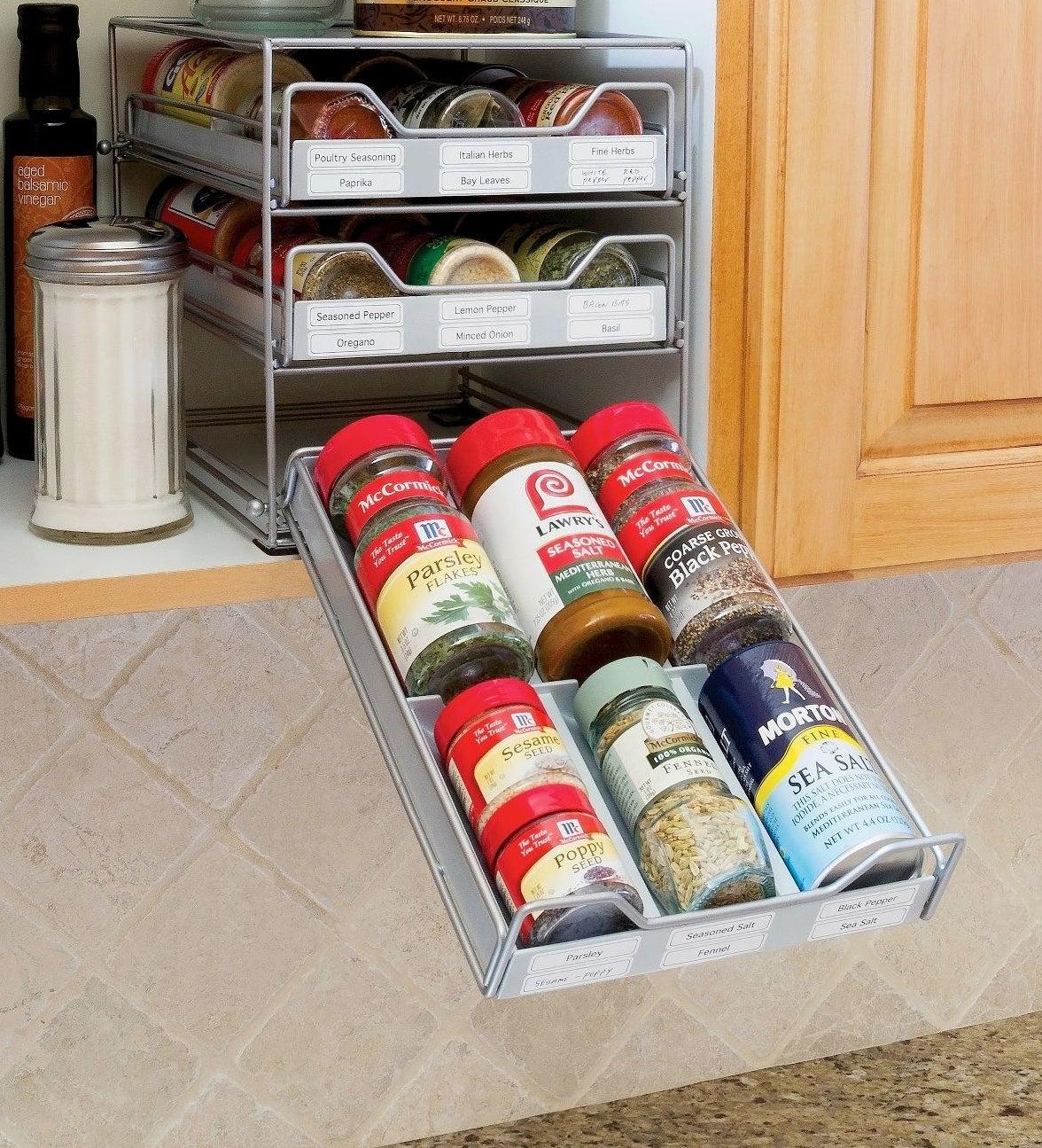 Silver spice drawer