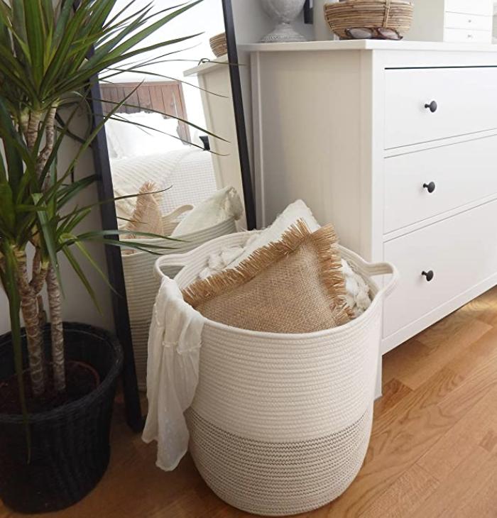Photo of basket on floor in home