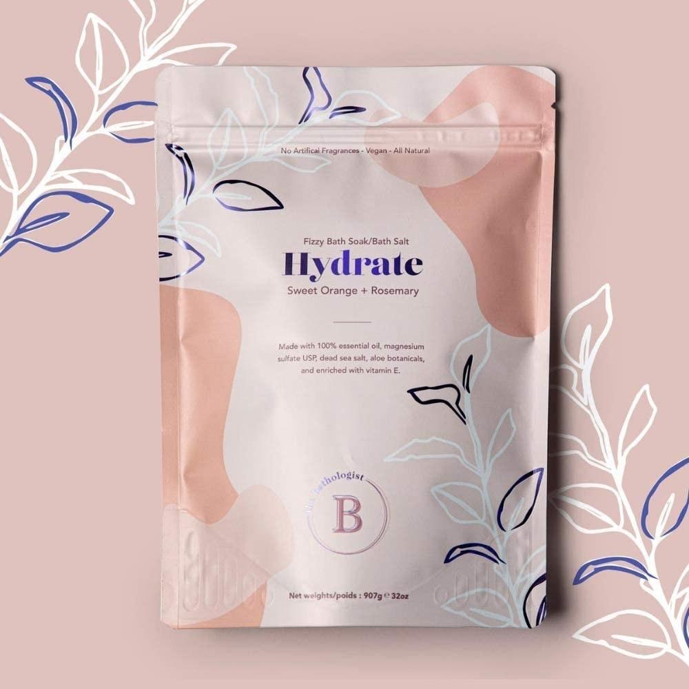 bath salt packaging in a bag