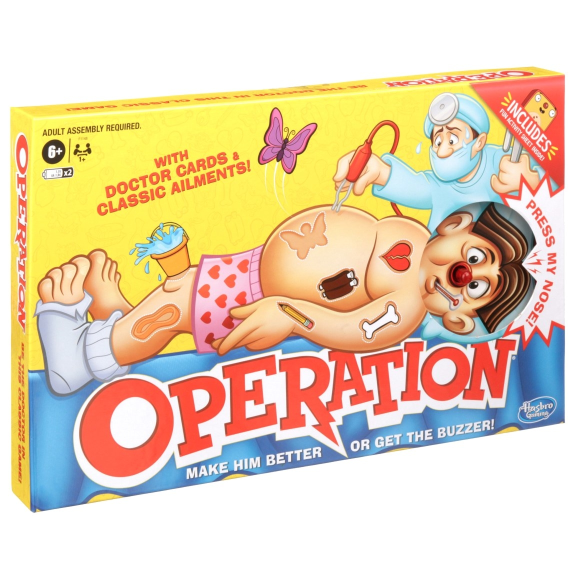 The game of operation in its package