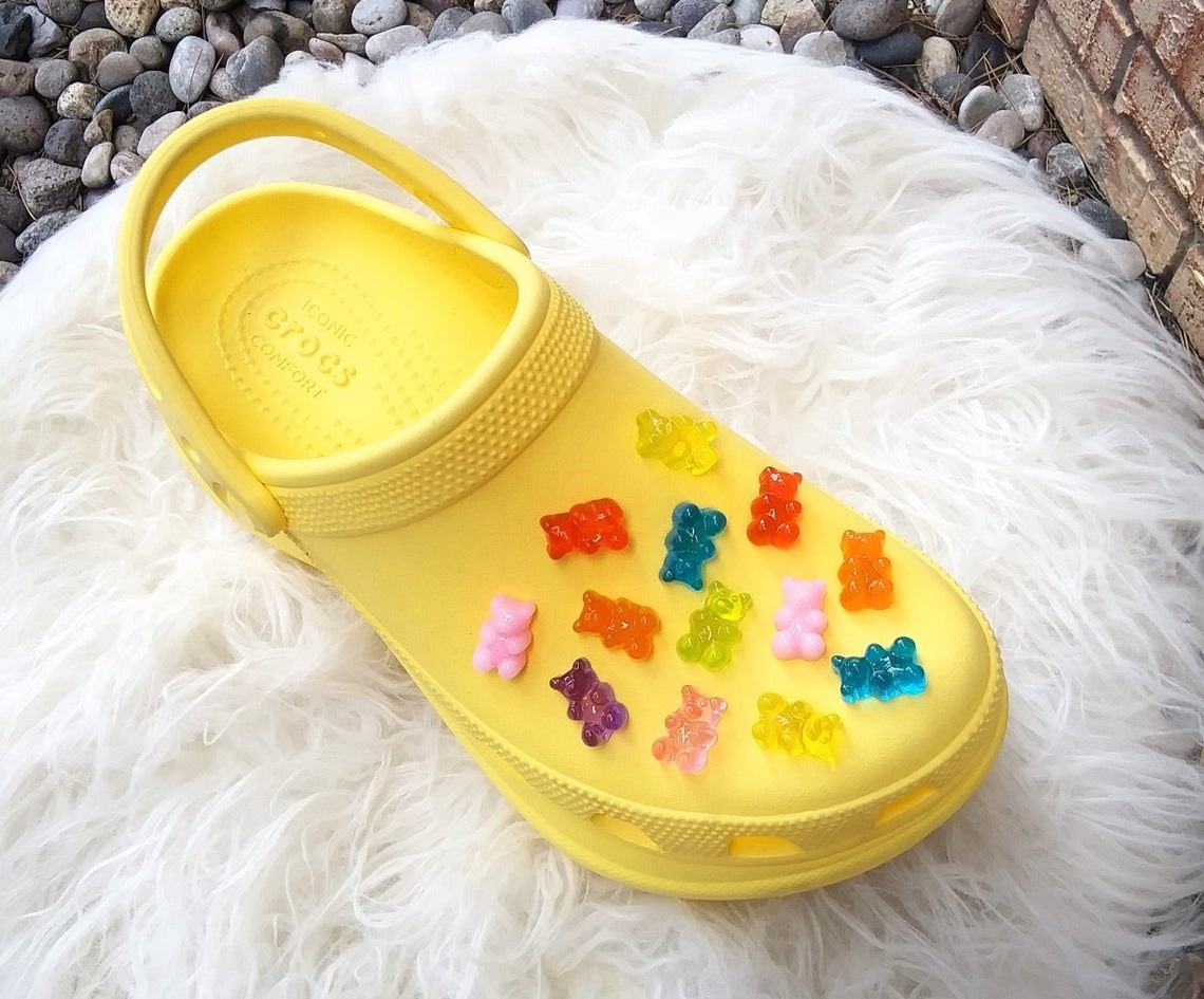 Croc covered in gummy bears