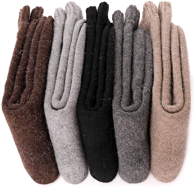 Five pairs of folded socks